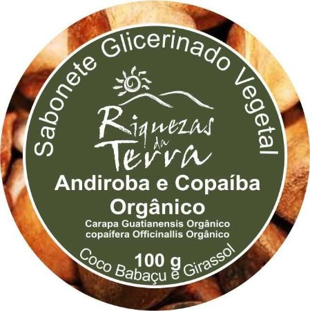 Sabonete Glicerinado Vegetal Andiroba e Copaíba Orgânico