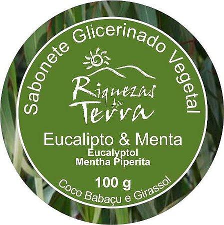 Sabonete Glicerinado Vegetal Eucalipto e Menta