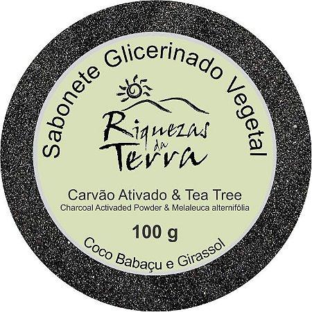 Sabonete Glicerinado Carvão Ativado &  Tea Tree 100g
