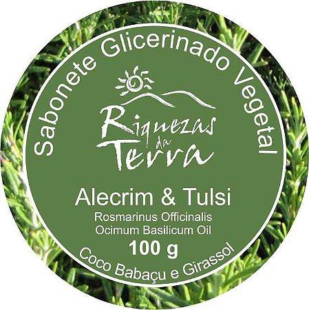 Sabonete Glicerinado Vegetal Alecrim e Tulsi - OUTLET