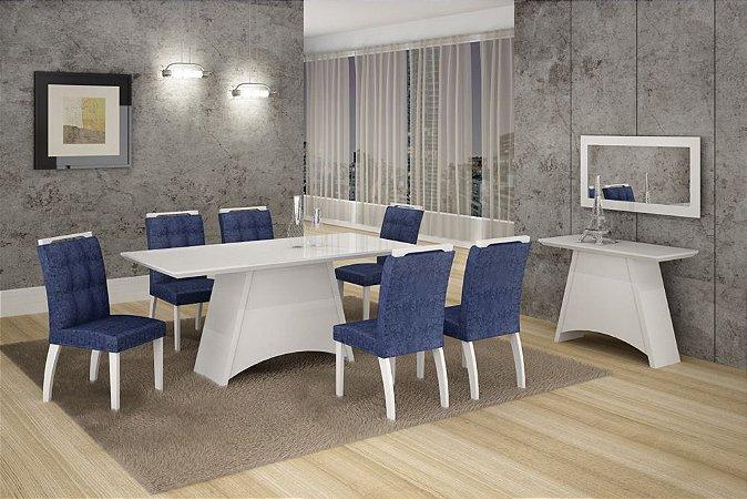 Conjunto De Mesa Com 6 Cadeiras Malaga 1,80 - Leifer