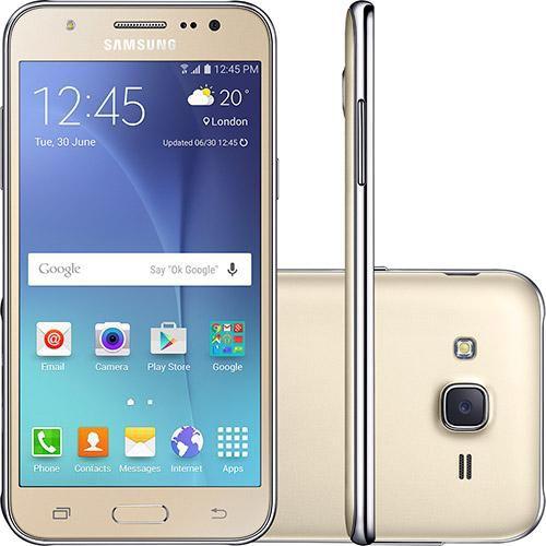 "Smartphone Samsung Galaxy J5 Dual chip Andoid 5.1 16GB 4G Tela 5"" Selfie de 5MP Câmera principal de 13MP"