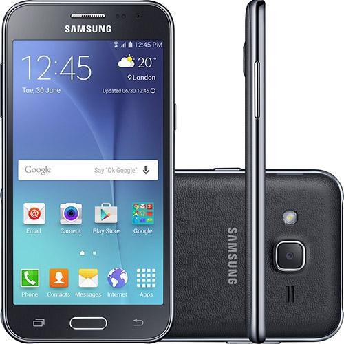 "Smartphone Samsung Galaxy J2 TV Dual chip Android 5.1 8GB 4G Tela 4.7"" Selfie 2MP Câmera principal 5MP"