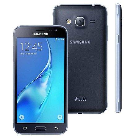 "Smartphone Samsung Galaxy J3 Dual chip Android 5.1 8GB 4G Tela 5"" Selfie 5MP Câmera principal 8MP"