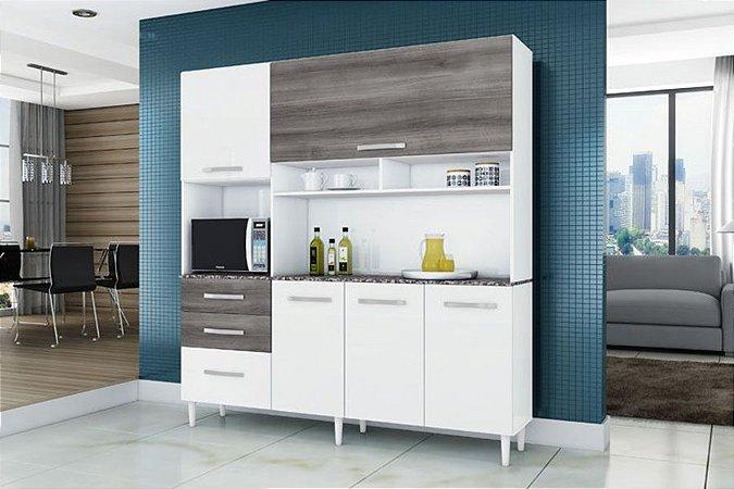 Cozinha Compacta Aramóveis Lory com 5 Portas e 3 Gavetas