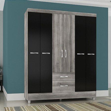 Guarda-Roupa 6 Portas 2 Gavetas 5138 – Aramóveis