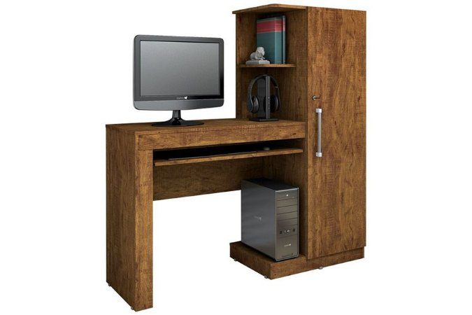 Mesa para Computador com Armário Office Valdemóveis
