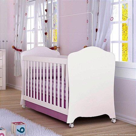 Berço Arcos-íris Henn Branco com Rodízios