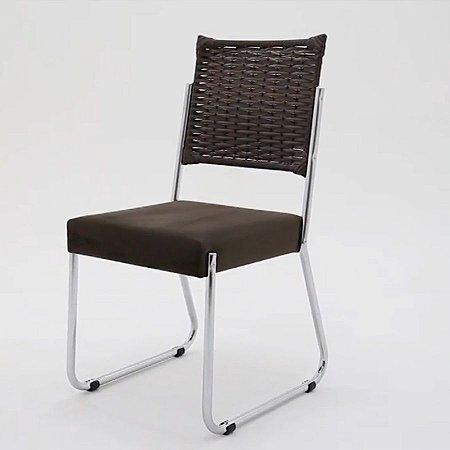 Cadeira Aço Nobre Facinare cromado