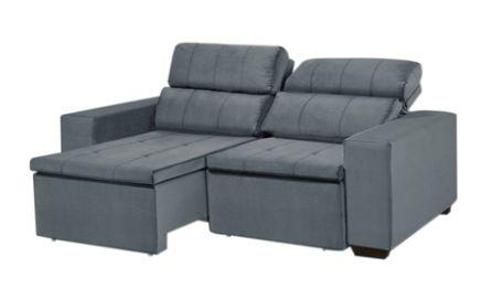 Sofá LR 485 2 lugares retrátil reclinável cinza