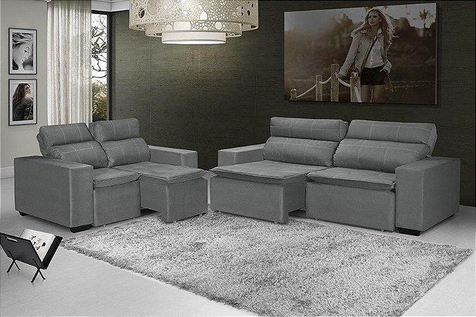 Sofá LR 470 3x2 lugares retrátil e reclinável