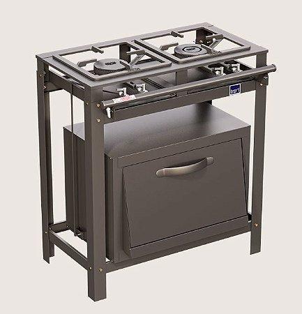 Fogão Tron 0075 Industrial 2 bocas com forno