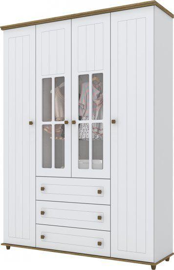 Guarda roupa Henn Encanto 3 portas 3 gavetas