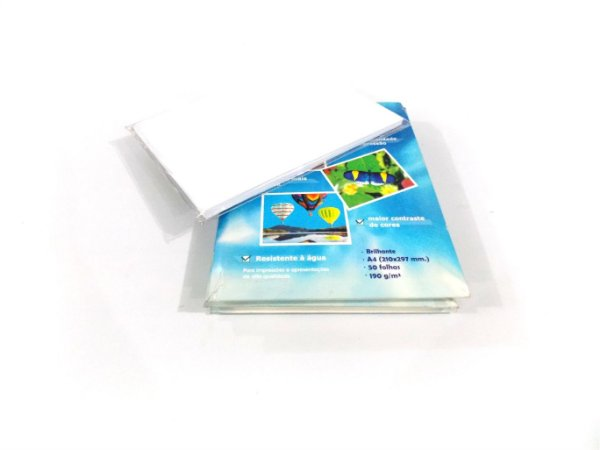 GLOSSY PHOTO PAPER A4 C/50 FOLHAS 190GR. 210X297MM