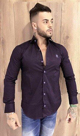 Camisa JTK lisa fio 60 violeta