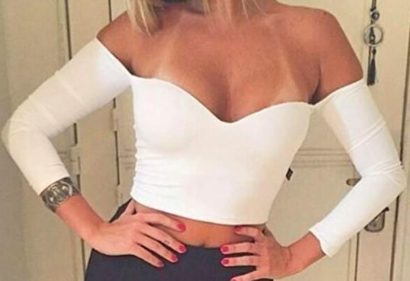 Blusa Cropped Branca Cigana com Bojo