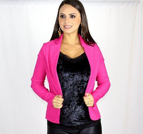 Blazer Rosa Bengaline