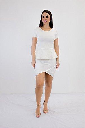 Saia Bandagem Recorte Off White