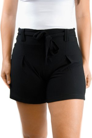 Shorts cintura alta preto viscolycra