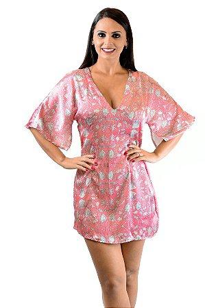Vestido sedinha rosa