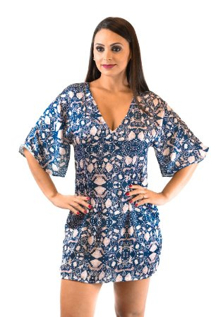 Vestido sedinha azul