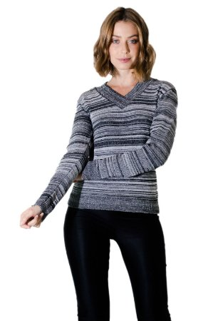Sueter tricot cinza mescla