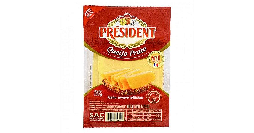 Queijo Prato Président 150g Fatiado