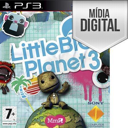 Jogo LittleBigPlanet 3 - PS3 Mídia Digital