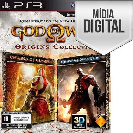 Jogo God of War: Origins Collection - PS3 Mídia Digital