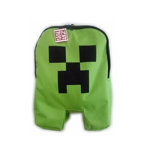Mochila Minecraft - Creeper - Verde Com Ziper