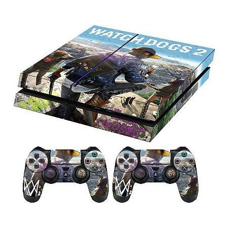 Skin Capa Playstation 4 Adesivo Watch Dogs 2 Ps4