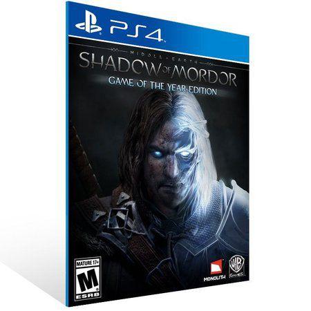 MIDDLE EARTH: SHADOW OF MORDOR PS4 - GAME OF THE YEAR EDITION - MÍDIA DIGITAL CÓDIGO 12 DÍGITOS