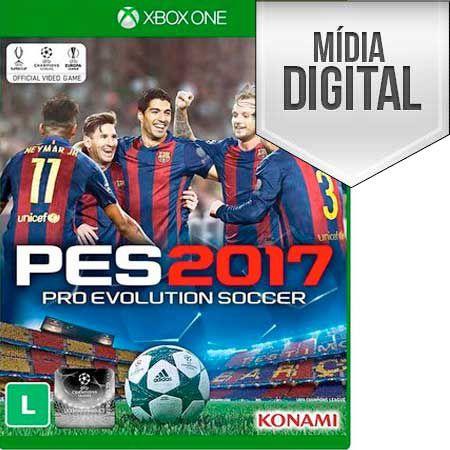 PRO EVOLUTION SOCCER 2017 PORTUGUÊS MÍDIA DIGITAL XBOX ONE