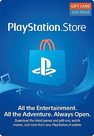 Cartão PSN R$200 Reais PSN Brasil - Playstation Network Brasil