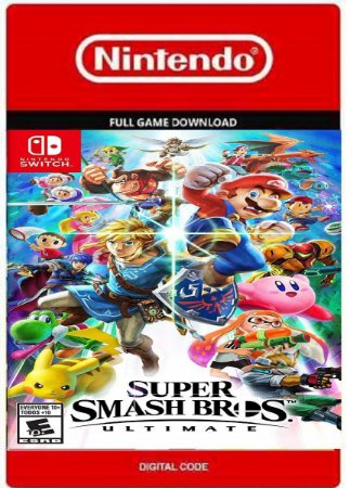 Super Smash Bros Ultimate Nintendo Switch Codigo Digital Eshop