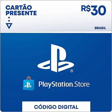 Cartão PSN R$ 30 Reais PSN Brasil - Playstation Network Brasil