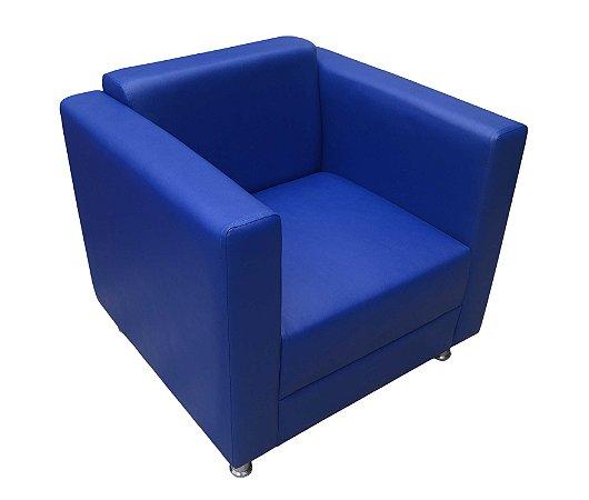 Poltrona para Recepção com pés aluminio regulável modelo LV108 (cores vermelha, cinza e azul) . Lv Estofados.