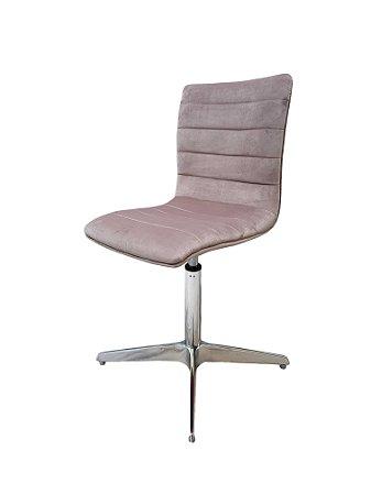 Cadeira para sala de jantar com base em alumínio e regulagem de altura. Modelo LV70AL . Lv Estofados