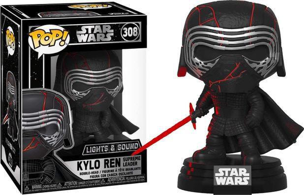Funko pop! Star Wars - Kylo Ren Supreme Leader c/ luz e som #308