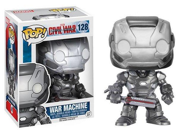Funko POP! Máquina de Combate (War Machine) - Capitão América: Guerra Civil #128