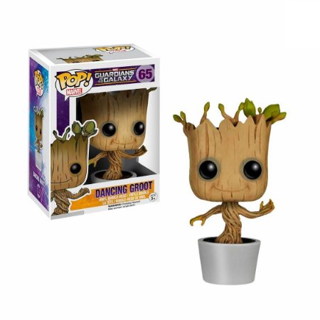 Funko Pop! Marvel Guardians of the Galaxy (Guardiões da Galáxia) Dancing Groot- (Groot Dançante) #65
