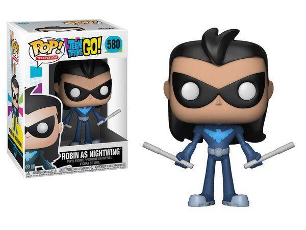 Funko Pop! Teen Titans Go!- Robin As Nightwing (Robin como Asa Noturna)  #580