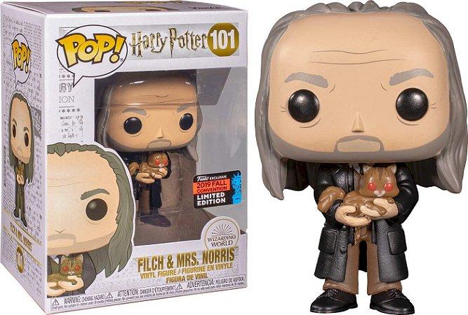 Funko Pop! Harry Potter - Filch & Mrs. Norris #101