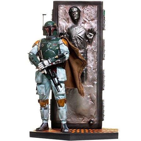 Boba Fett e Han Solo em Carbonita - 1/10 Bds - Star Wars Ep. 1 - Iron Studios
