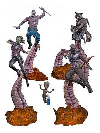 Diorama Guardiões da Galáxia- Completo - Iron Studios