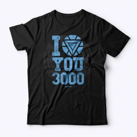 Camiseta Studio Geek- I love you 3000