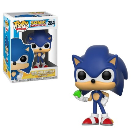 Funko Pop! Sonic With emerald - Sonic The Hedgehog - #284