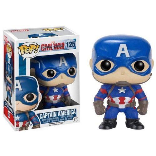 Funko Pop! Capitão América (Captain America) - Guerra Civil (Civil War) #125