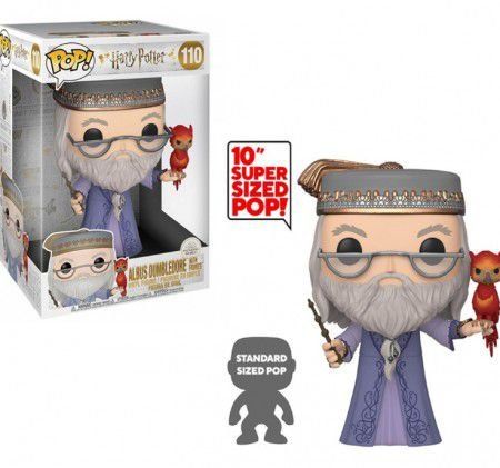 Funko Pop Albus Dumbledore With Fawkes- SUPER SIZED POP 10'' - #110