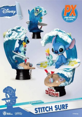 Stitch's Surf d-stage - Disney - Beast Kingdom